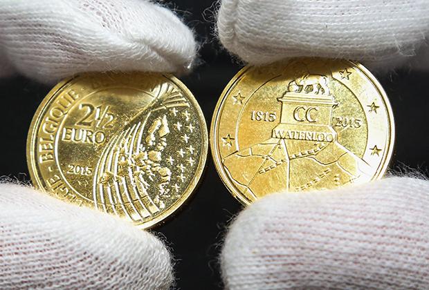 Монета в 2,5 евро, посвященная битве при Ватерлоо