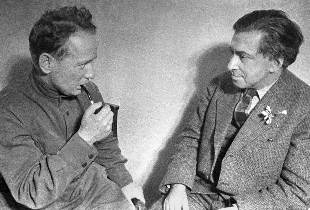 Михаил Шолохов и Илья Эренбург, 1938 год