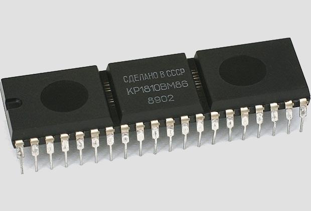 Микропроцессор КР1810ВМ86, советский аналог Intel 8086