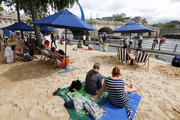 Пляж в Париже