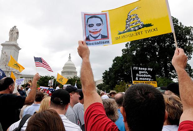 Митинг противников Obamacare перед Капитолием. 12 сентября 2009года
