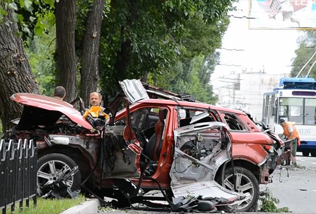 Автомобиль секретаря Захарченко Елены Филипповой