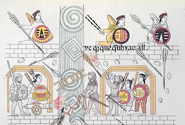Битва испанцев с ацтеками