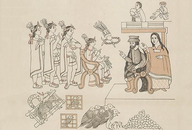 Встреча Кортеса и Монтесумы, 8 ноября 1519года