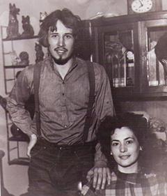 С женой Ириной, 1984 год
