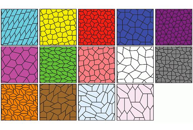 Описанные в период с 1918 по 1985 года пятиугольные паркеты