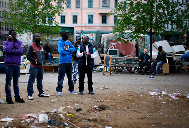 Лагерь беженцев в Кройцберге