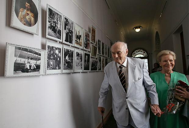 Князь Дмитрий Романов с супругой