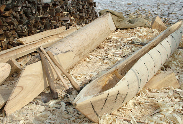 Изготовление долбленой лодки