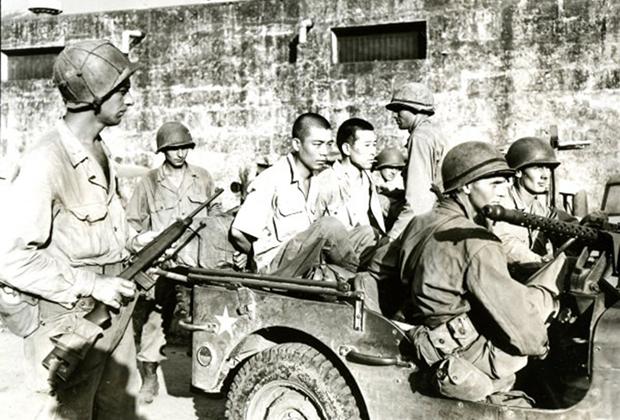 Пленные японцы в Маниле, 1945 год