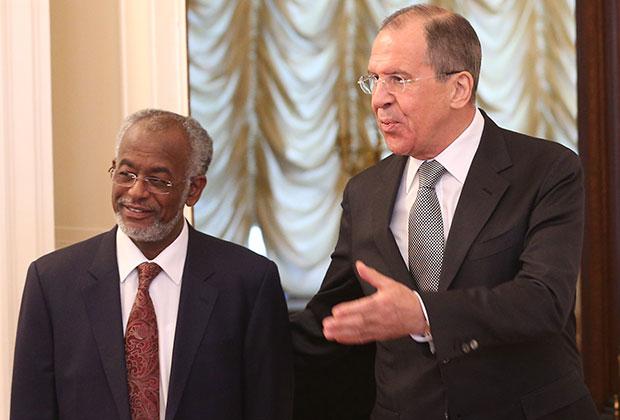 Сергей Лавров и министр иностранных дел Судана Али Ахмед Карти. 4 апреля 2014 года.
