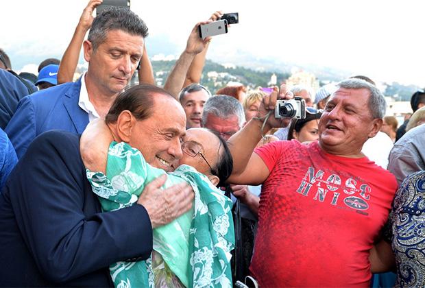 В Ялте Сильвио Берлускони встречали так же тепло, как и Путина