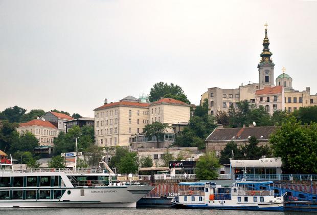С воды Белград открывается совсем с другой стороны