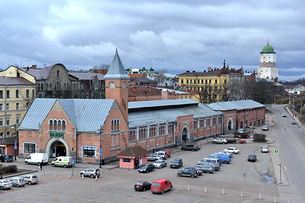 Россия. Ленинградская область. Рыночная площадь в Выборге