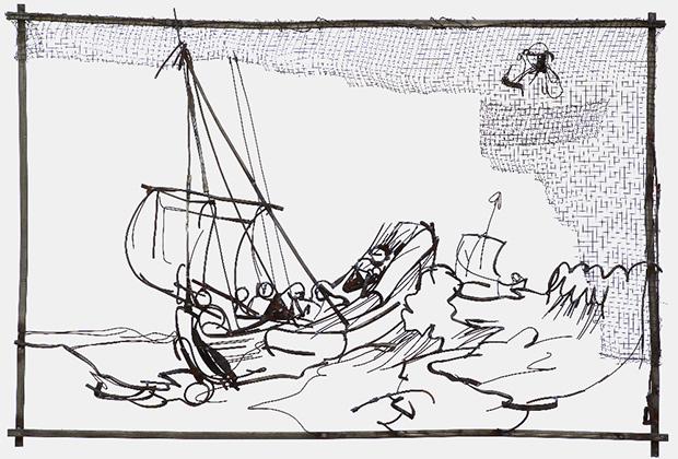 Дмитрий Гутов, «Христос во время шторма на море Галилейском», 2009.