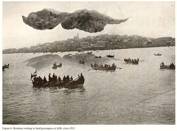 Мехрин Муртаза, «Лодочники ждут выхода пассажиров на берег Яффы», около 1911. Из серии «Сомнительное происхождение географии», 2012.