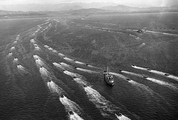 Высадка американских военных на побережье у северокорейского города Вонсан, 1950 год