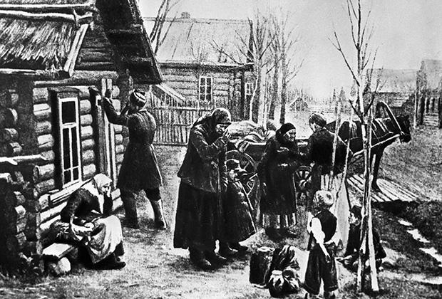 Крестьяне отправляются из деревень на заработки в города, 1901 год