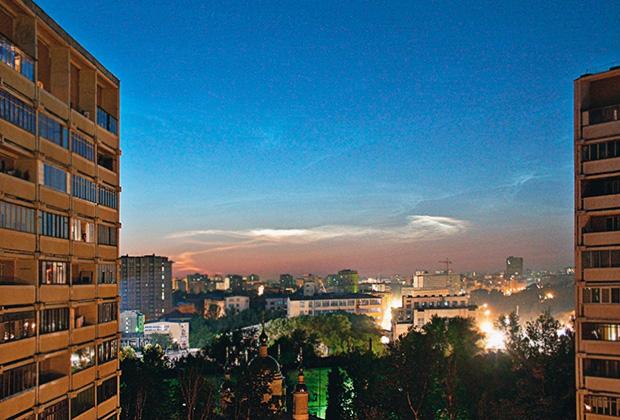 Вид на московский район Лефортово ночью