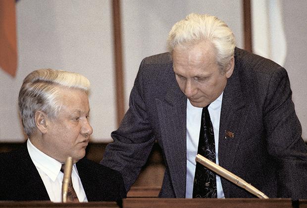 Борис Ельцин и Сергей Филатов