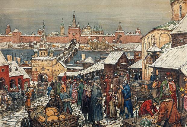 Картина «Новгородский торг»