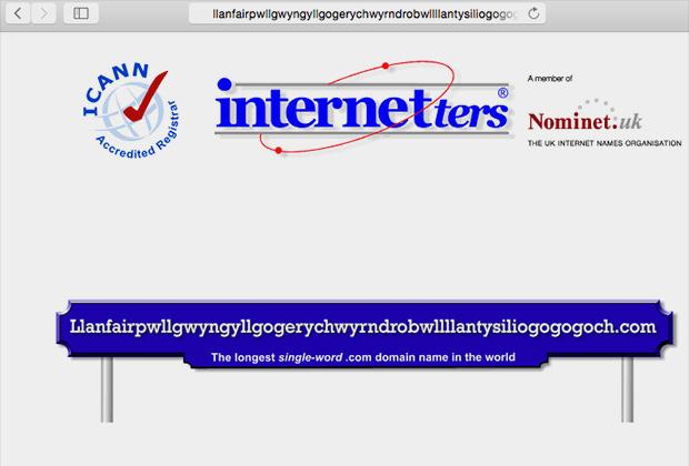 Сайт с именем валийской деревни