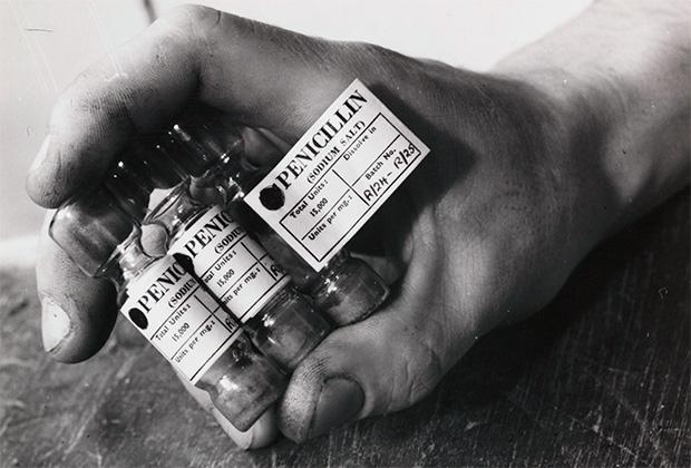 Ампулы с пенициллином (1943 год)