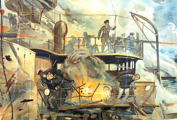 Гибель Вильгельма Витгефта, командующего русским флотом, август 1904 года