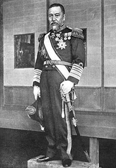 Хэйхатиро Того, главнокомандующий японского Соединенного флота во время Русско-японской войны 1904-1905 годов
