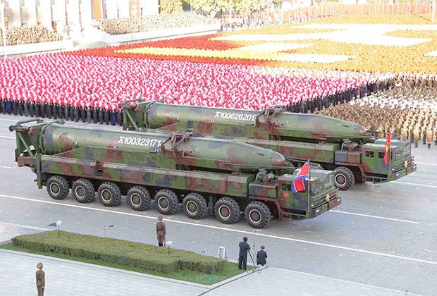 Парад, посвященный 70-летию Трудовой Партии Кореи. 10 октября 2015
