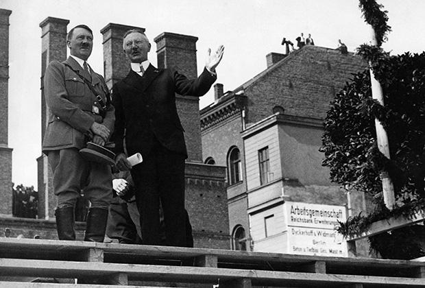 Адольф Гитлер и Ялмар Шахт