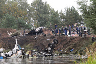 На месте крушения самолета Як-42 под Ярославлем