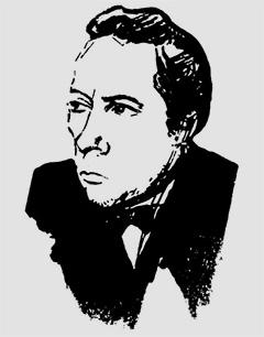 Велимир Хлебников, портрет работы Владимира Маяковского, 1916 год