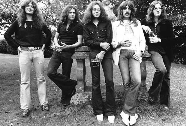 Deep Purple, 1973 год. Слева направо: Гленн Хьюз, Ричи Блэкмор, Ян Пейс, Джон Лорд, Дэвид Ковердейл  (Photo by Chris Walter/WireImage)