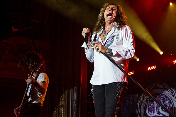 SAN FRANCISCO, CA - JUNE 11:  David Coverdale of Whitesnake performs at Grand Regency Ballroom on June 11, 2015 in San Francisco, California.  (Photo by Miikka Skaffari/FilmMagic)