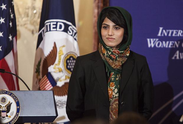 Нилуфар Рахмани, 2015 год, Вашингтон, вручение премии International Women of Courage Award