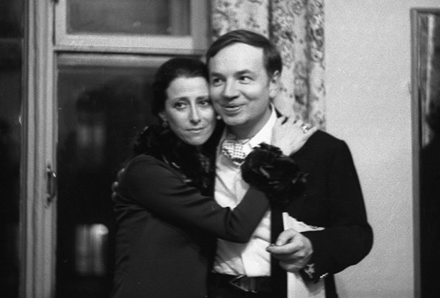 Плисецкая и поэт Андрей Вознесенский