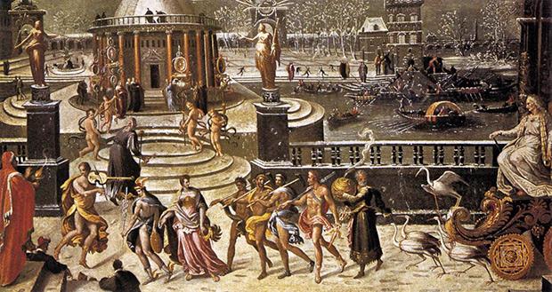 Картина Антуана Карона «Аллегория триумфа Зимы»