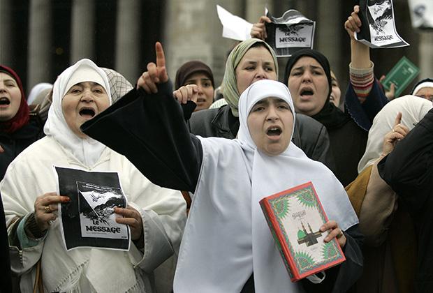 Мусульманские протесты в Брюсселе