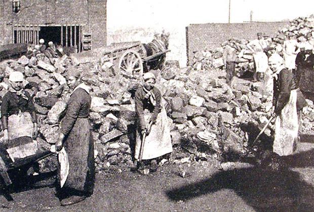 Женщины на бельгийских угольных шахтах