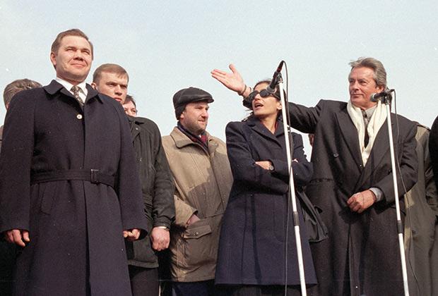 Французский актер Ален Делон — гость Александра Лебедя, 1998 год