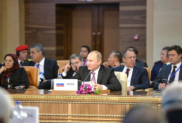 Владимир Путин на третьем саммите Форума стран-экспортеров газа