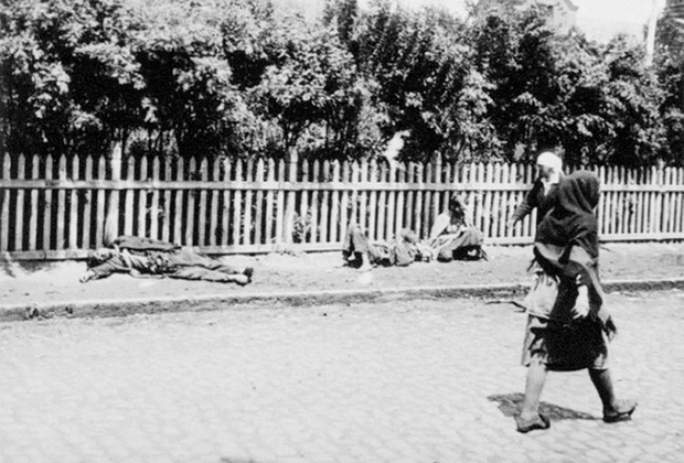 Жертвы голода на улицах Харькова, 1933 год