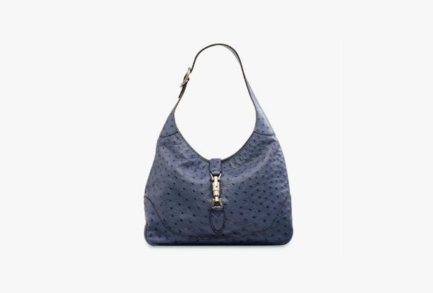 Сумка Jackie, Gucci из кожи страуса, эстимейт 2593-3889 долларов (общий для двух сумок).