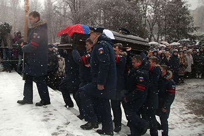 Похороны Олега Пешкова