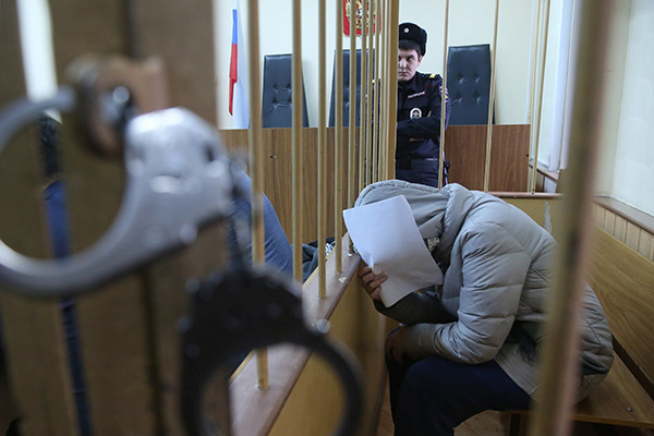 "MOSCOW, RUSSIA. DECEMBER 1, 2015. Moscow State University student Varvara Karaulova (Alexandra Ivanova) charged with trying to join the Islamic State terrorist group appears at the Moscow Lefortovsky Court for a hearing into an appeal by her lawyers who are not allowed to visit her in the pre-trial detention centre. Sergei Fadeichev/TASS  Россия. Москва. 1 декабря 2015. Студентка МГУ Варвара Караулова, подозреваемая в участии в террористической организации ""Исламское государство"", во время рассмотрения жалобы ее адвокатов, которым не разрешают увидеться с ней в следственном изоляторе, в Лефортовском суде. Сергей Фадеичев/ТАСС"