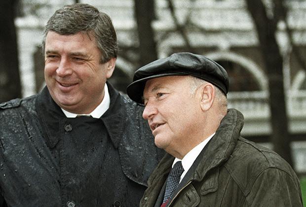 Павел Бородин и мэр Москвы Юрий Лужков, 1997 год