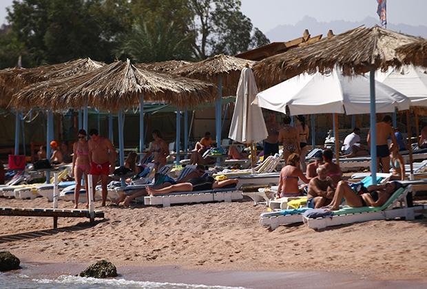 Российские туристы на пляжах Египта, наши дни