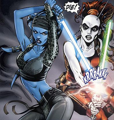 Рыцаря-джедая Эйлу Секуру Лукас впервые встретил на обложке одного из комиксов.