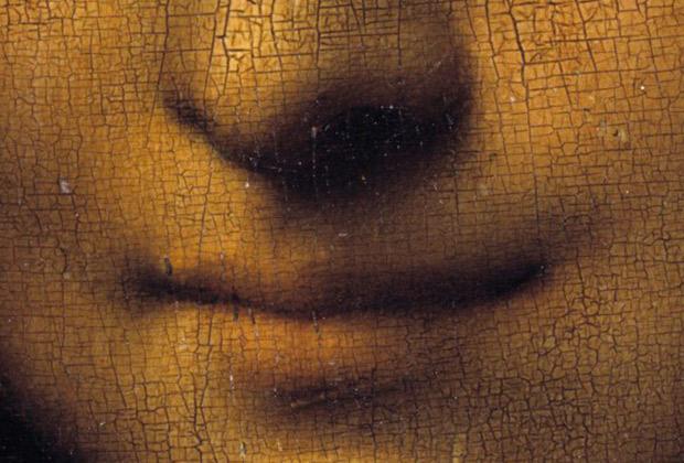 Фрагмент картины Леонардо да Винчи «Мона Лиза» («Джоконда»)